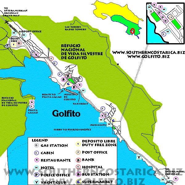 Map Golfito City